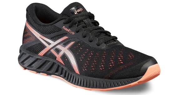 asics fuzeX Lyte Shoe Women Black/Flash Coral/Onyx